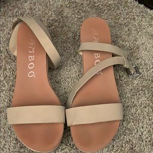 Nude wedges size 8 1/2